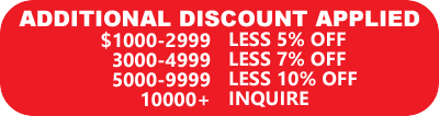 Additional discounts applied